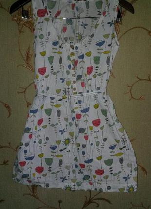 Яркая летняя блуза майка рубашка