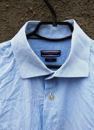 Рубашка 🇲🇹🎩 tommy hilfiger в полоску