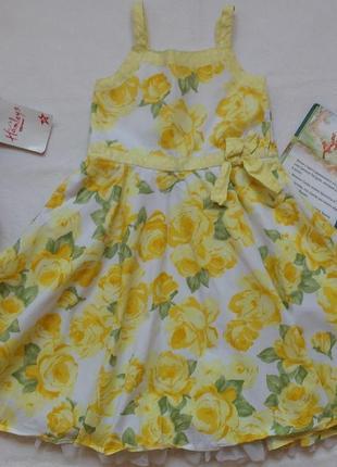 """Нарядное полупышное платье-сарафан """"sweet millie"""", 6 лет, 116 см"""