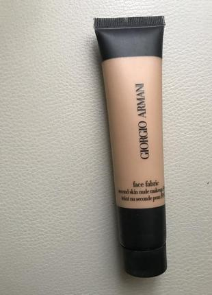 Тональный крем giorgio armani face fabric foundation second skin