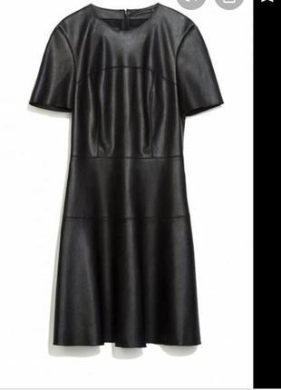 Шкіряне плаття ( кожаное платье) zara