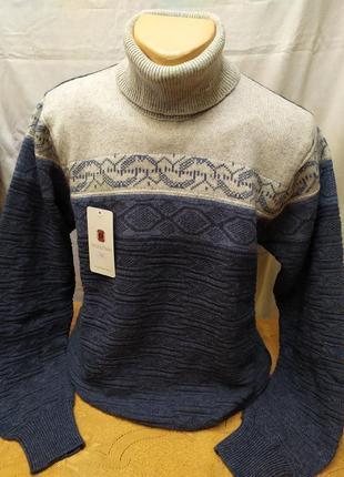 Модный зимний свитер с высоким горлом. расцветки. турция