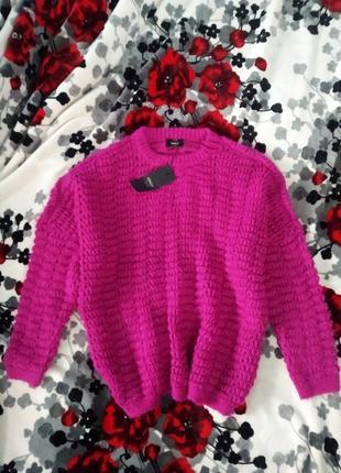 Свитер пуловер джемпер крупная вязка новый