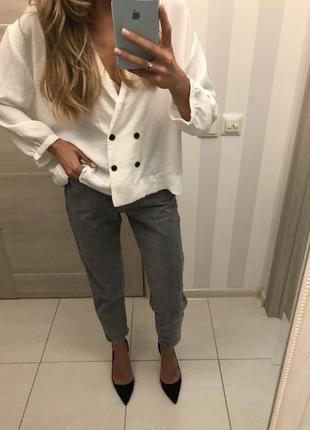 Белая блуза пиджак zara