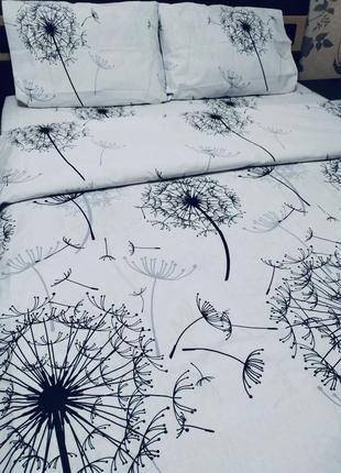Постельный комплект одуванчики натуральная ткань