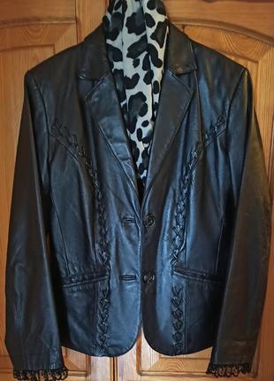 Пиджак из натуральной кожи, 48