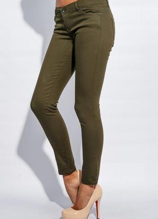 Брюки, штаны, джинсы, женские, стрейч, размер m
