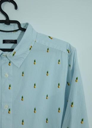 Рубашка с классным принтом ананасы фрукты sendston&co