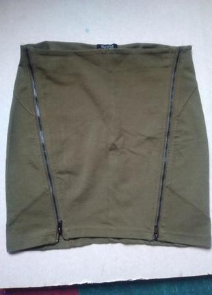 Трикотажная мини юбка bershka в отличном состоянии продажа обмен