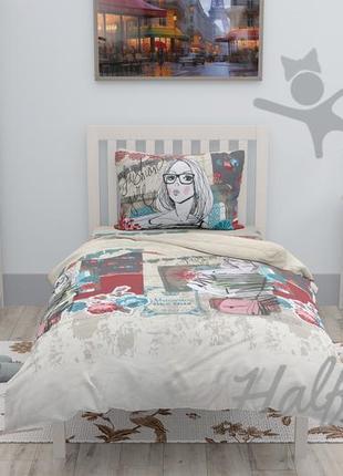 Подростковый комплект постельного белья halftones,односпальный, хлопок, бязь люксовая