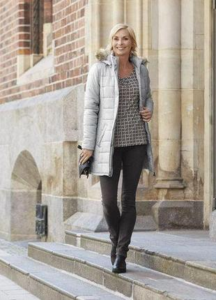 Термо куртка-пальто р.евро 40 l от esmara германия серое