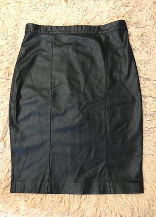 Шкіряна спідниця ( кожаная юбка) topshop