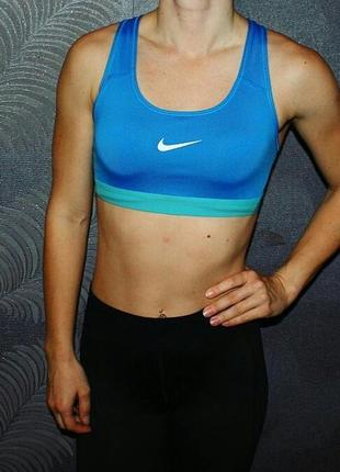 Фирменный спортивный топ/топик nike (спорт/фитнес/йога)