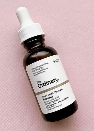 Скваланове масло 100% натуральне  the ordinary 100% plant-derived squalane