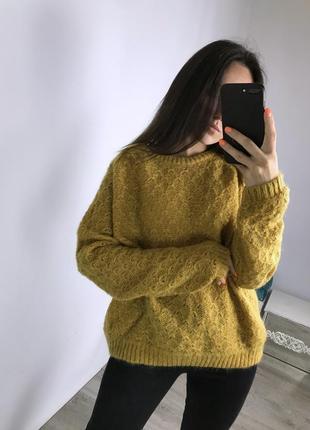 Теплый объемный свитер, оверсайз