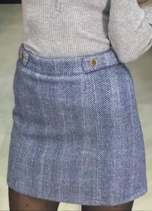 Спідниця з костюмної теплої тканини