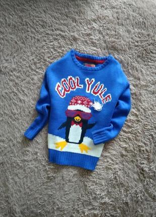 Яркий,красивий,новогодний свитерок от rebel,на 6-7 лет
