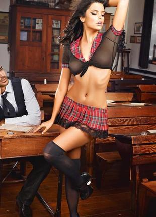 5-177 эротический костюм школьница сексуальний комплект білизни