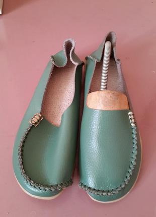Мягенькие кожаные туфли-мокасины 38 р.в идеале