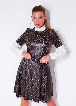 Платье из перфорированной эко - кожи grand ua