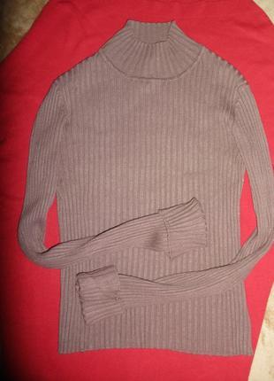 Водолазка гольф тонкий свитер sela из трикотажа лапша