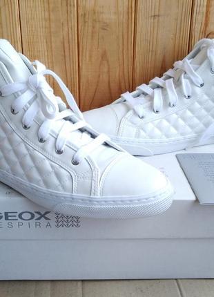 Высокие дышащие стильные кеды сникерсы geox новые ботинки