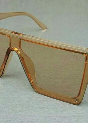 Yves saint laurent очки женские солнцезащитные большие бежевые