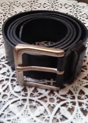 Черный брендовый кожаный ремень от schuchard & friese