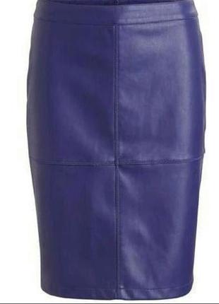 Тренд!  виниловая кожаная юбка карандаш