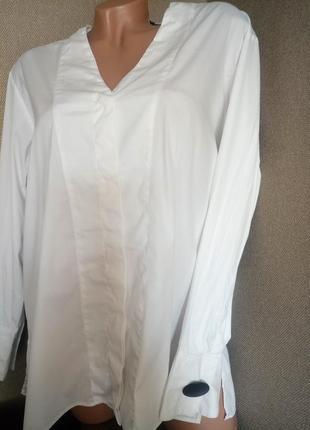 Белая рубашка zara свободный крой в стиле oversize
