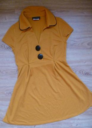 Платье, платье мини, теплое платье, платье с пуговицами, сукня міні bechetti