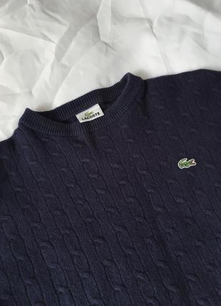 Винтажный шерстяной свитер от lacoste ❤
