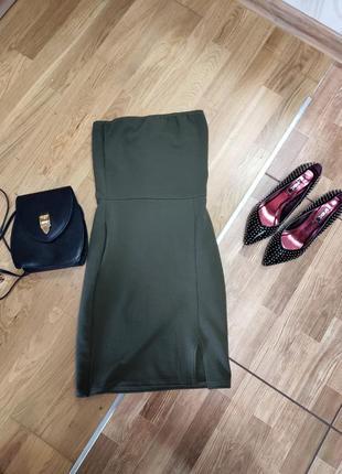 Платье топ prettylittlething с разрезом