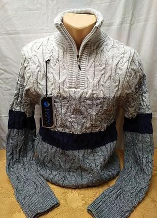 Теплющий свитер на высокий рост, полузамок . расцветки. турция