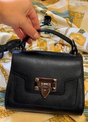 Маленькая сумочка из кожы genuine leather