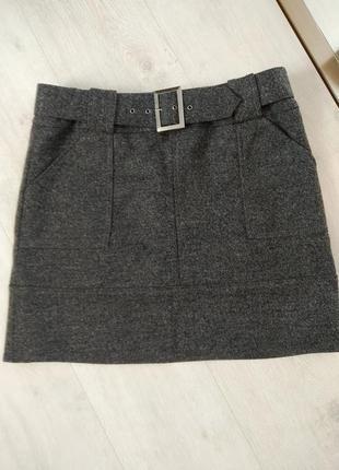Шерстяная юбка, юбка трапеция, теплая юбка, юбка классическая, юбка офисная, зимняя юбка