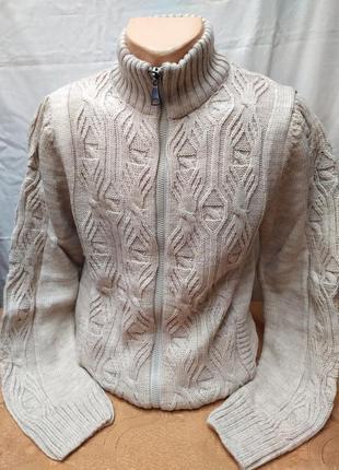 Теплый свитер, кофта полный замок . расцветки. турция
