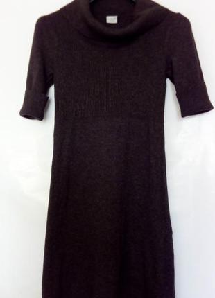 Базовое теплое вязаное платье, коричневое, esprit