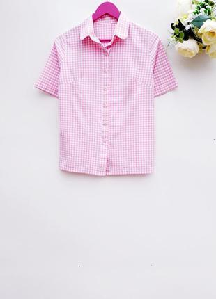 Рубашка в клетку красивая рубашка на лето