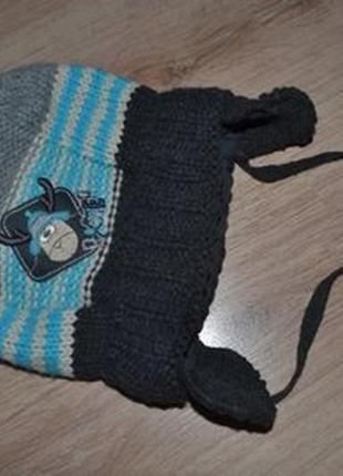 Зимняя шапка мальчику raster р.46-48 и дольше