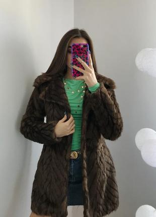 Розпродаж! коричнева еко шубка екошуба куртка пальто s m шуба куртка косуха дублёнка
