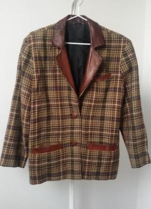 Пиджак 38 р.шерсть