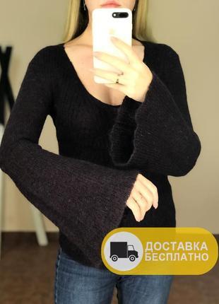 Шерстяний светр з воланами comptoir des cotonniers
