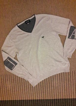 Хлопковый свитер #armani jeans #оригинал