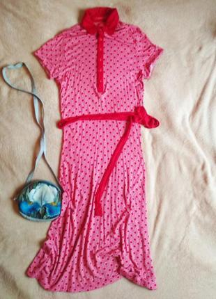 Платье рубашка с узором с пояском castro