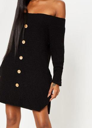 Вязаное короткое платье ❤️ prettylittlething❤️ вязаное платье. платье свитер крупной вязки