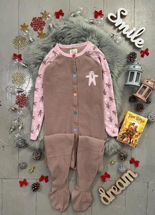 Теплая флисовая пижама кигуруми слип печенька №83