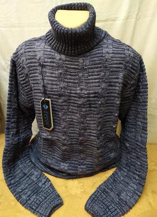 Теплый свитер с высоким горлом. расцветки. турция