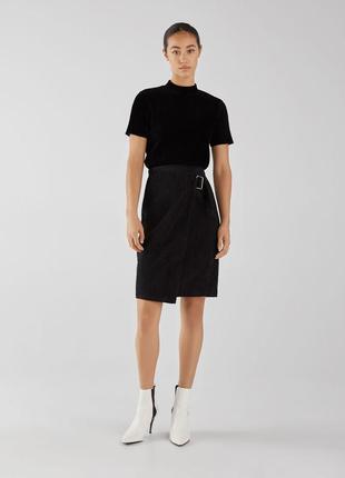 Стильная юбка bershka, вельвет