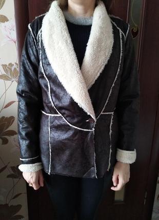 Крутая куртка пиджак, дубленка